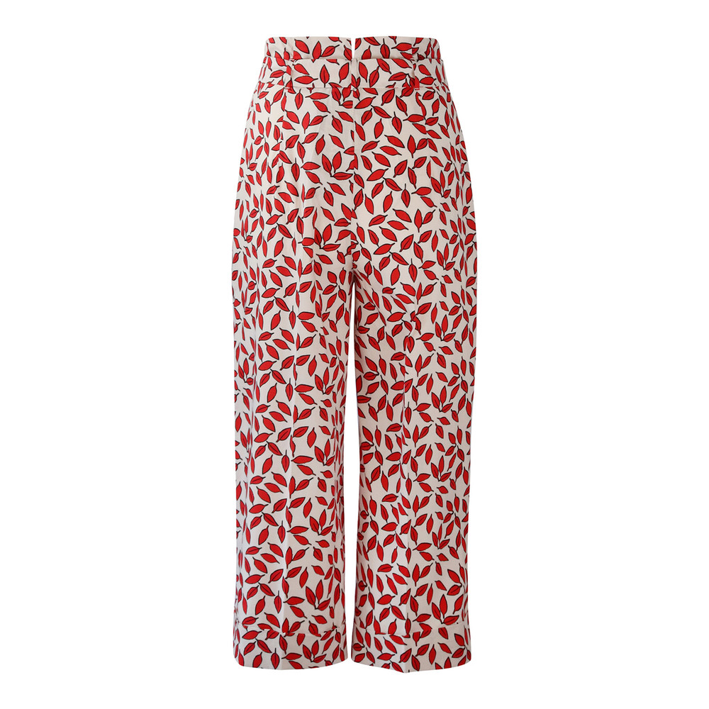 Maxmara Studio Leaf Print Trouser Red