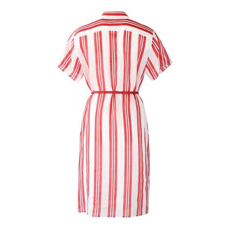 Maxmara Studio Short Sleeve Red and White Shirt Dress