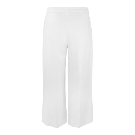 Maxmara Studio Cropped White Cotton Trouser