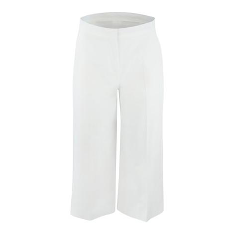 Maxmara Studio Cropped White Cotton Trouser