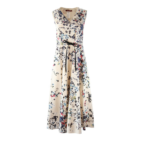 Maxmara Studio Sleeveless V-Neck Floral Dress