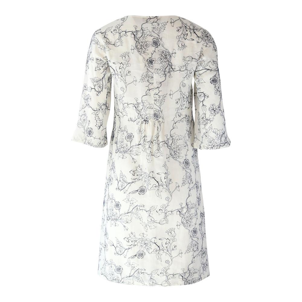 Maxmara Studio Linen Oversized Dress White