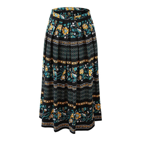Maxmara Studio Black Floral Skirt