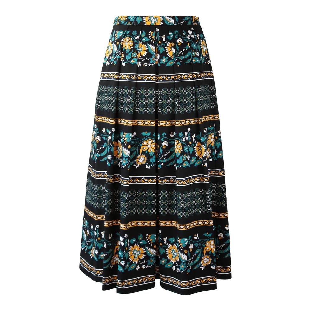 Maxmara Studio Black Floral Skirt Black