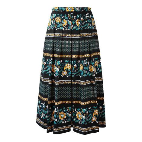Maxmara Studio Black Floral Skirt