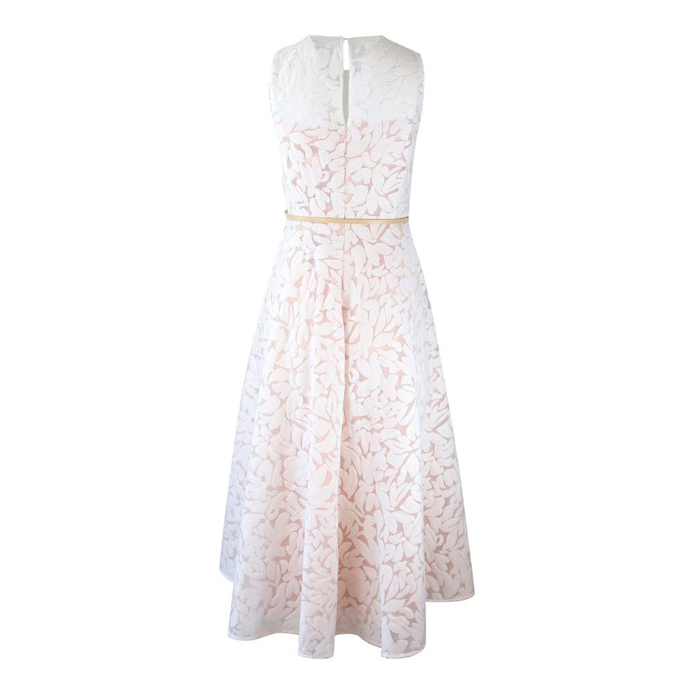 Maxmara Studio Sleeveless White Devore Dress White