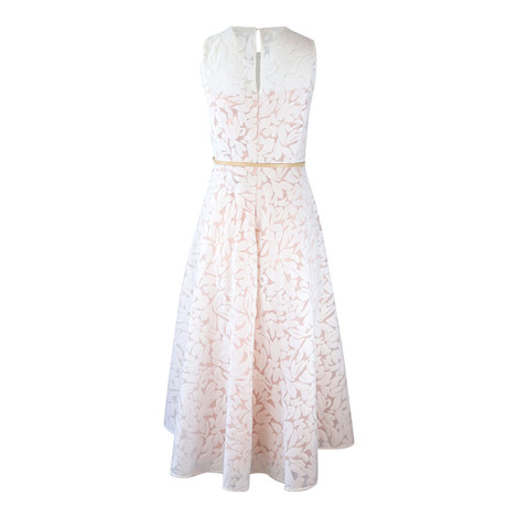 Maxmara Studio Sleeveless White Devore Dress