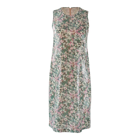Maxmara Studio Sleeveless Garden Print Sequin Dress with Matching Wrap