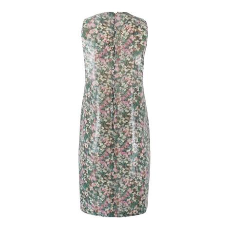 Maxmara Studio Sleeveless Garden Print Sequin Dress with Matching Wrap