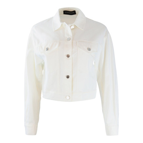 Sportmax Code White Denim Jacket