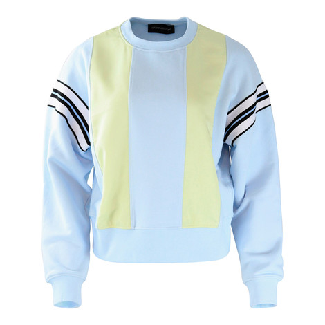 Sportmax Code Light Blue and Lemon Sweat Top