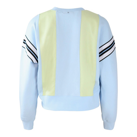 Sportmax Code Light Blue and Lemon Sweat Top