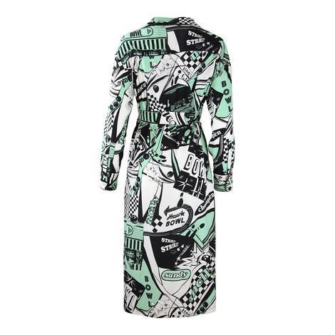 Sportmax Code Bowling Print Graphic Shirt Dress