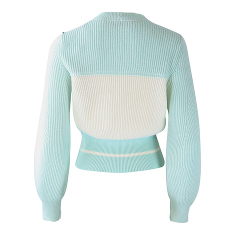 Sportmax Code Mint and White Jumper