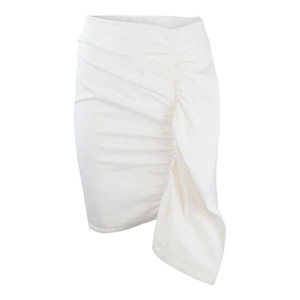 Sportmax Code White Denim Frill Skirt White