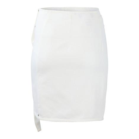Sportmax Code White Denim Frill Skirt