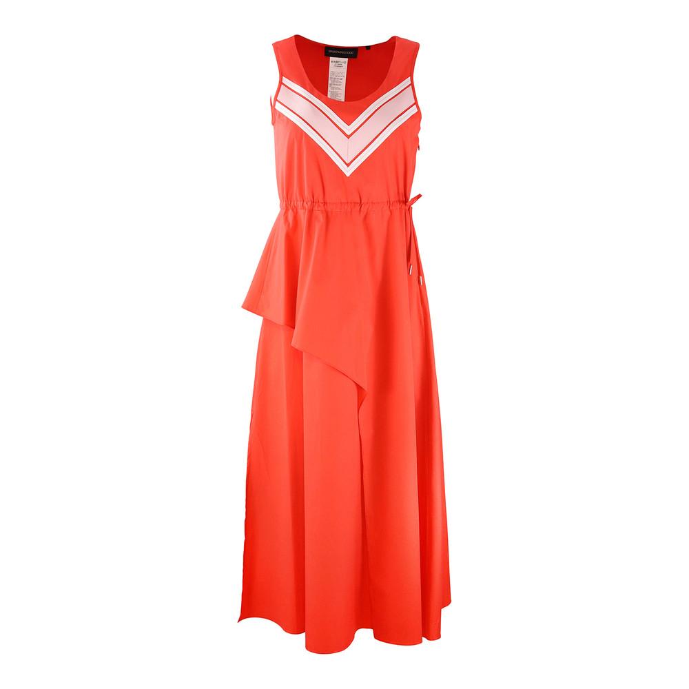 Sportmax Code Sleeveless Orange Midi Dress Orange