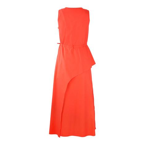 Sportmax Code Sleeveless Orange Midi Dress