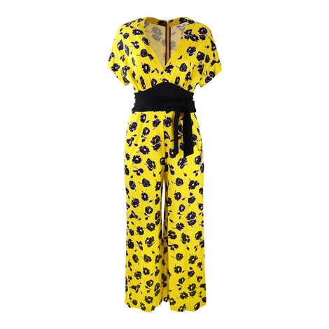DVF Yellow Evangeline Floral Jumpsuit