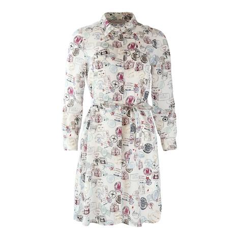Marella Longsleeve Stamp Print Shirt Dress