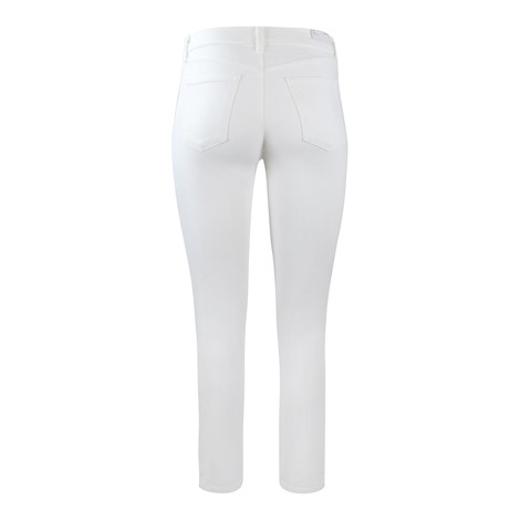 J Brand Ruby Highrise Cropped Cigarette Leg Blanc Jean