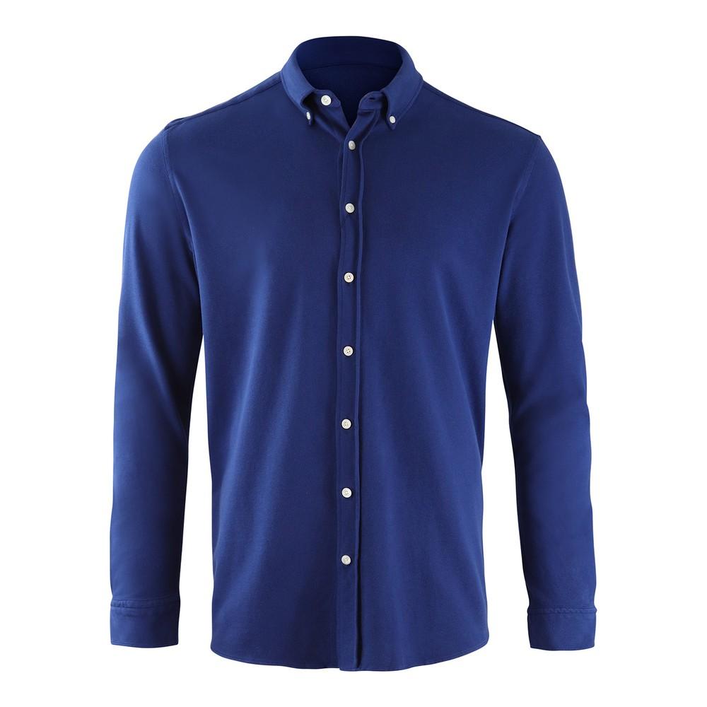 Hackett Brompton Slim Fit Beach Linen Shirt Blue