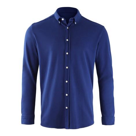 Hackett Brompton Slim Fit Beach Linen Shirt in Blue