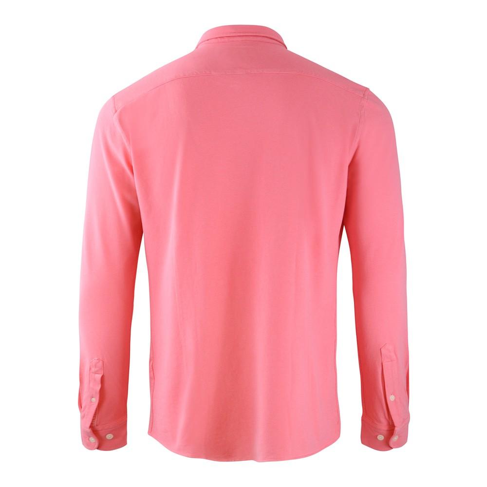 Hackett Brompton Slim Fit Beach Linen Shirt Coral