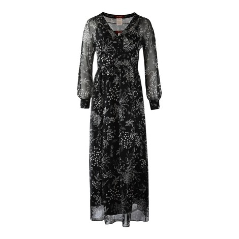 Maxmara Studio Longsleeve Floral Silk Dress