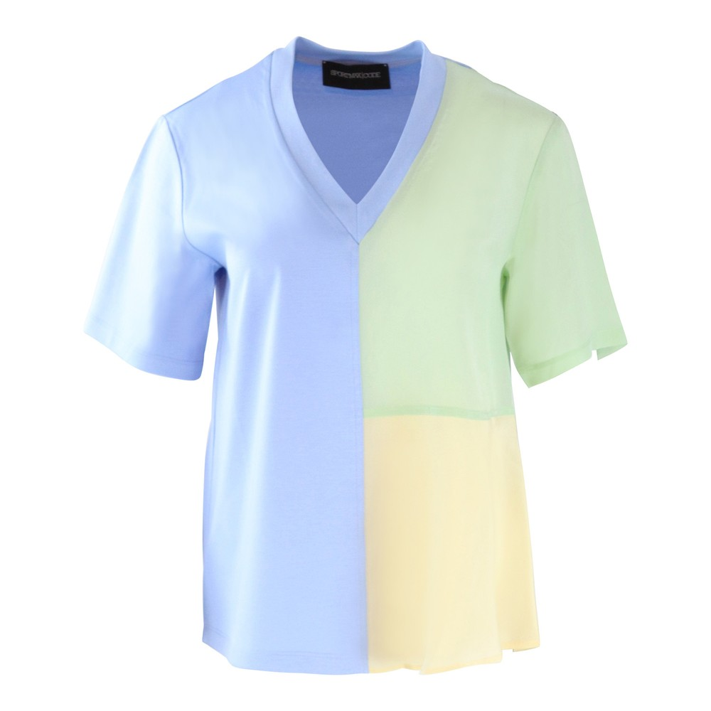Sportmax Code Short Sleeve Top Candy Colours Blue