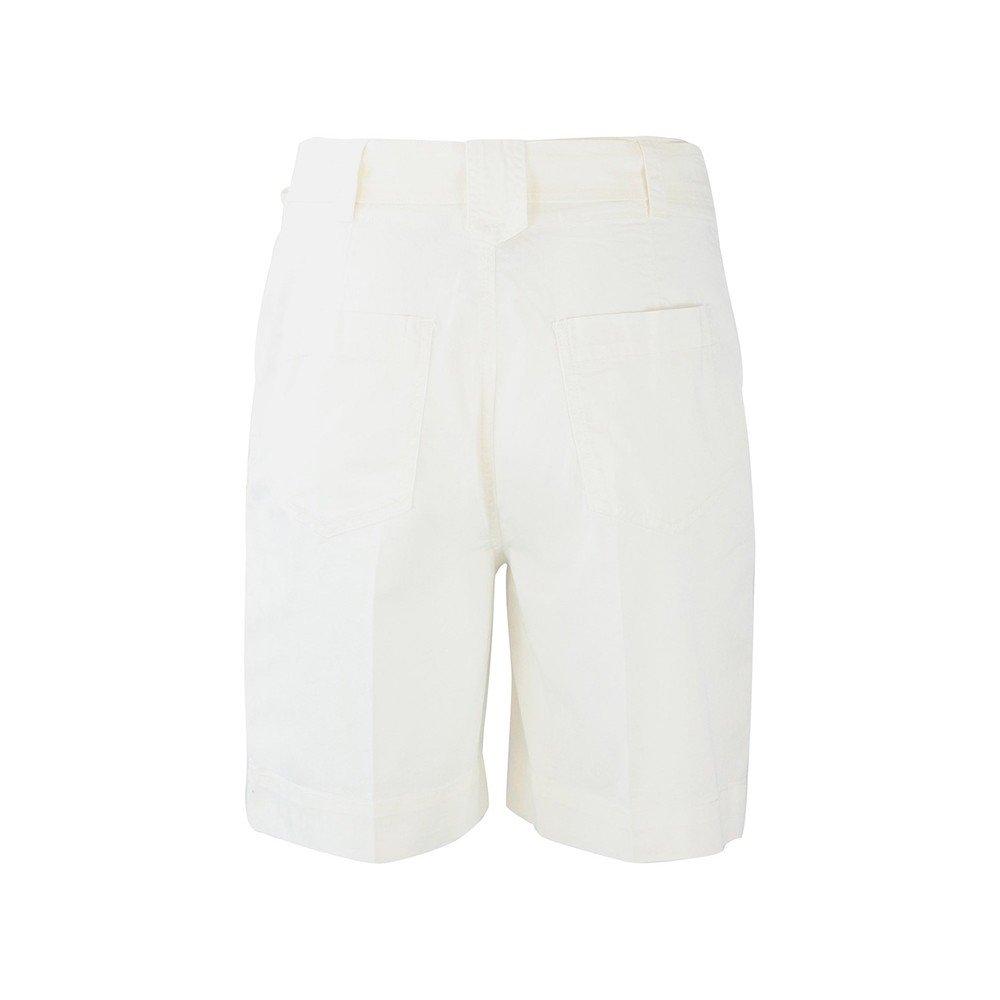 Sportmax Code Roll Up Shorts White