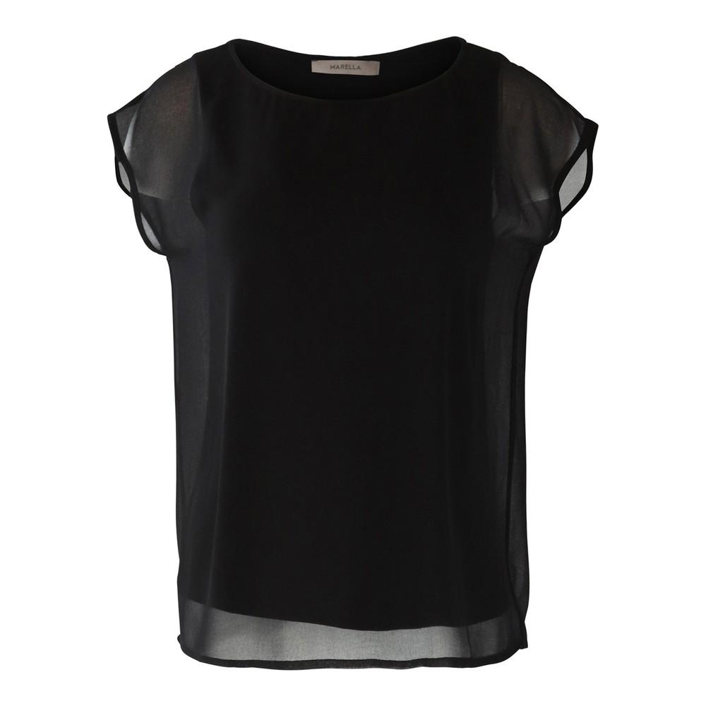 Marella Overlay Top Black