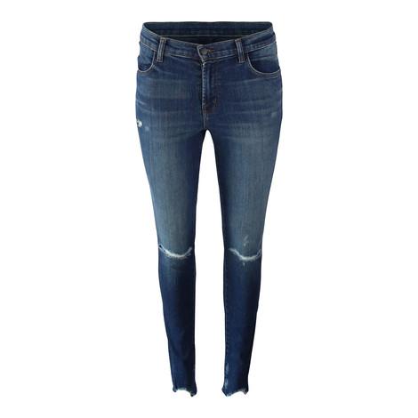 J Brand Maria Highrise Skinny Leg Revoke Destruct Jean
