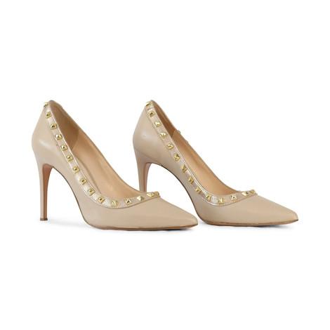 Aristocrat Cream Studded Court Shoe