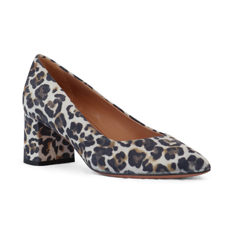 Aristocrat Animal Print Block Heel Court Shoe