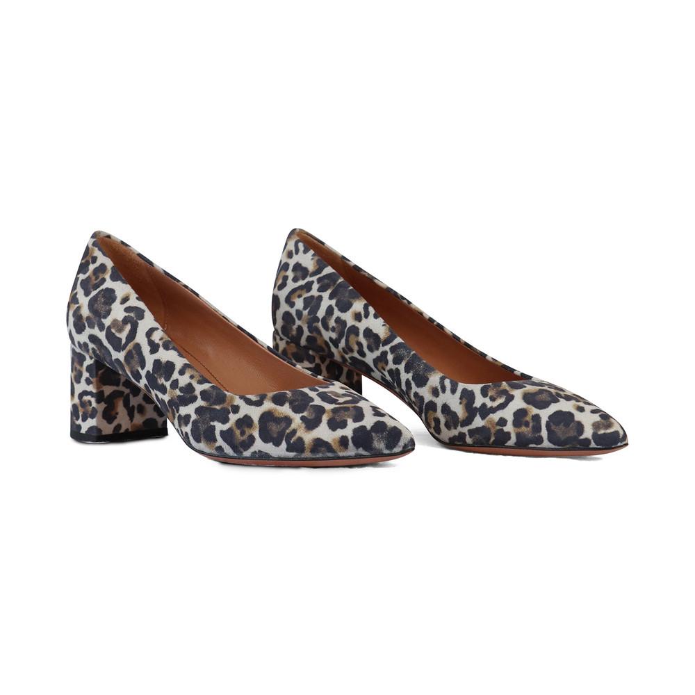 Aristocrat Animal Print Block Heel Court Shoe Animal Print