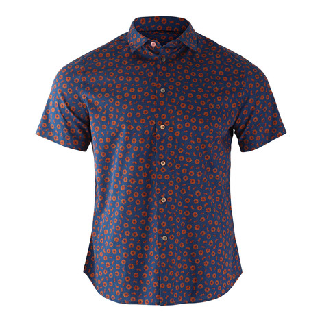 PS Paul Smith Flower Print Short Sleeve Shirt