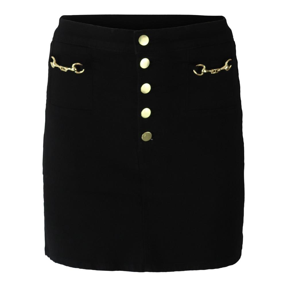 J Brand Sabine Mid Rise Mini Photo Ready Vendetta Skirt Black