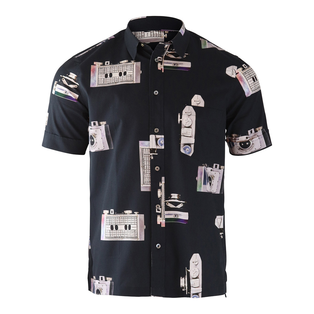 Paul Smith Gents S/S Tailored Shirt Soho Fit Black
