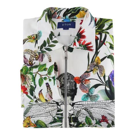 Eton Floral Zip Shirt