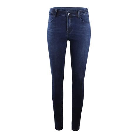 J Brand Maria Highrise Skinny Leg Phased Jean