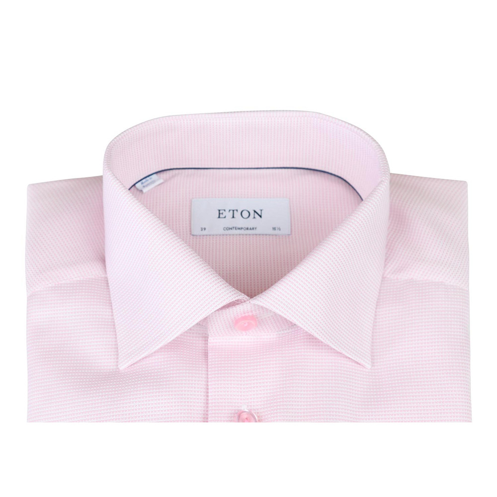 Eton Contemporary Poplin Shirt Pink