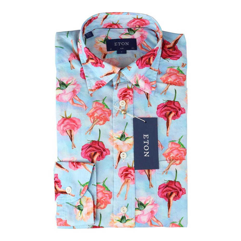 Eton Rose Shirt Blue