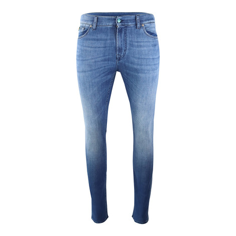 7 For All Mankind Ronnie Special Edition Left Hand Mid Blue Jeans