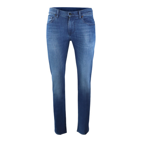 7 For All Mankind Kayden Luxe Performance Mid Blue Jeans