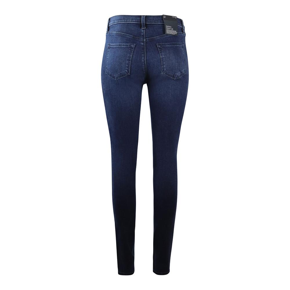 J Brand Maria Highrise Skinny Leg Phased Jean Dark Denim