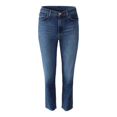 J Brand Jules High Rise Ankle Straight Leg  Metropole Jean