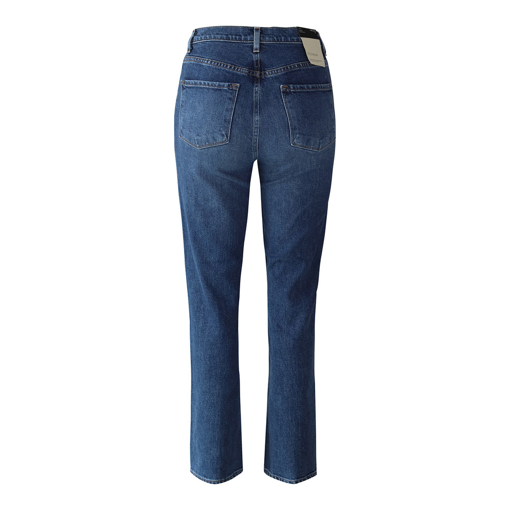 J Brand Jules High Rise Ankle Straight Leg  Metropole Jean Mid Wash Denim
