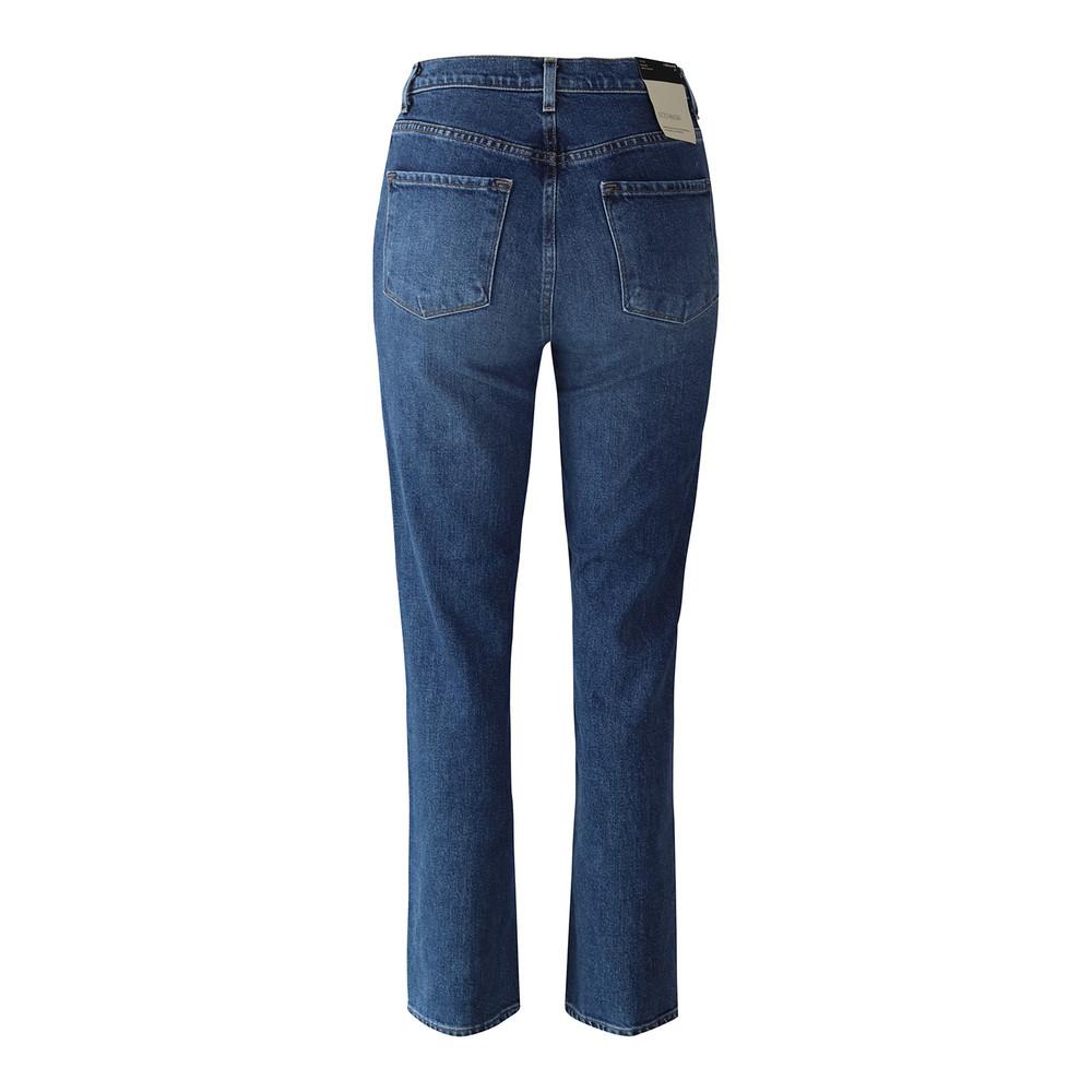J Brand Jules High Rise Ankle Straight Leg  Metropole Jean Mid Wash Denim