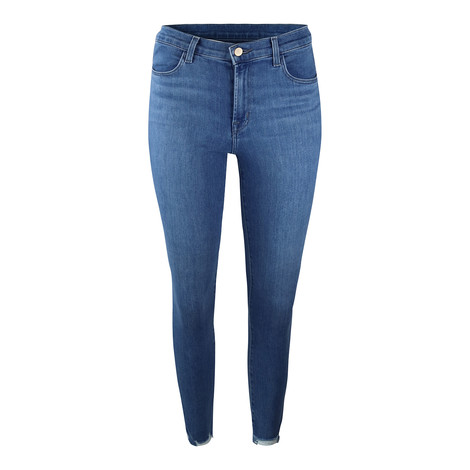 J Brand Alana High Rise Crop Skinny True Love Destruct Jean